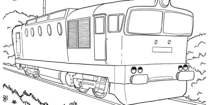 Omalovánky k vytištění zdarma vlak