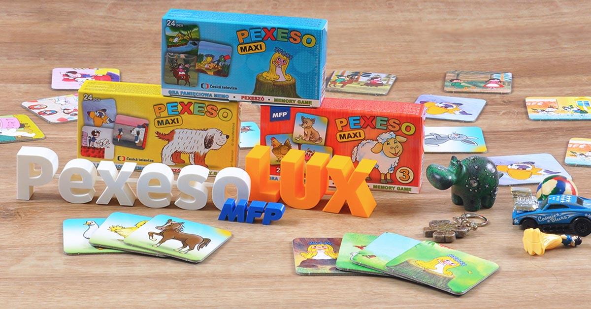Pexeso LUX - tvrdé kartičky pro lepší úchop - vhodné pro nejmenší